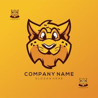 Гепард дизайн логотипа премиум вектор