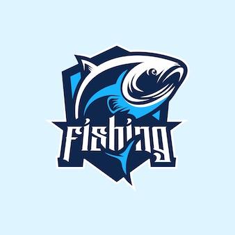 釣りのロゴプレミアムベクトル