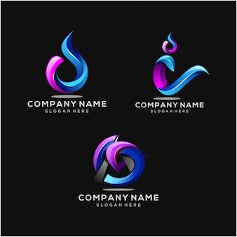 現代の会社のロゴセット