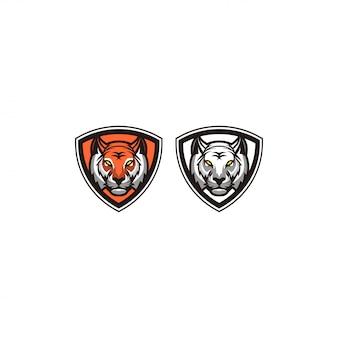 Удивительный дизайн логотипа тигра