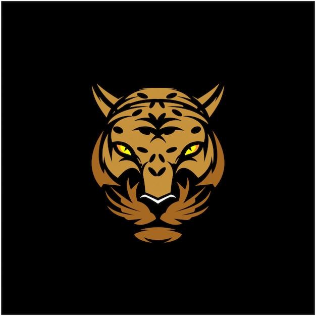 Леопардовая голова клип-арт