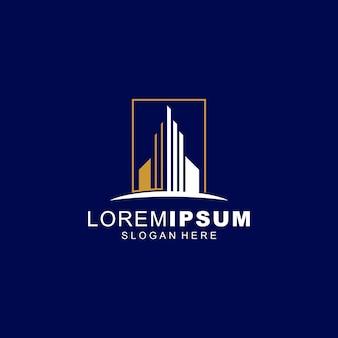 Недвижимость дизайн логотипа премиум