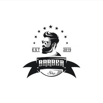 理髪店のロゴの設計図