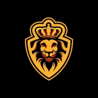 Король лев дизайн логотипа премиум