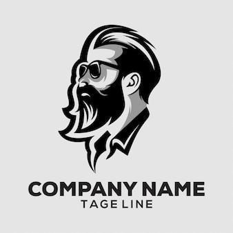 男性の頭のロゴ