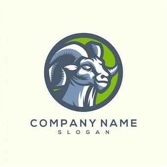 素晴らしいヤギのロゴのテンプレート