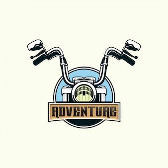 オートバイの冒険プレミアムベクトル