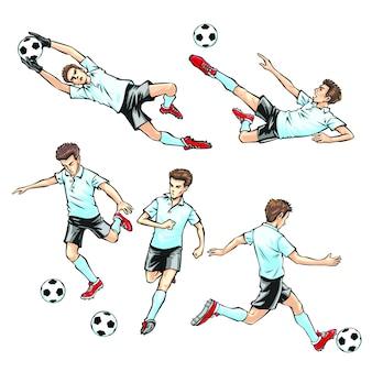 サッカーをしている男