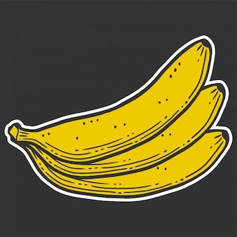 有機性甘いバナナ。