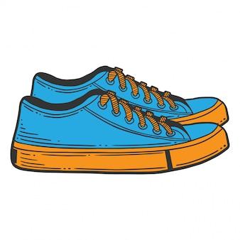 Кроссовки синие туфли