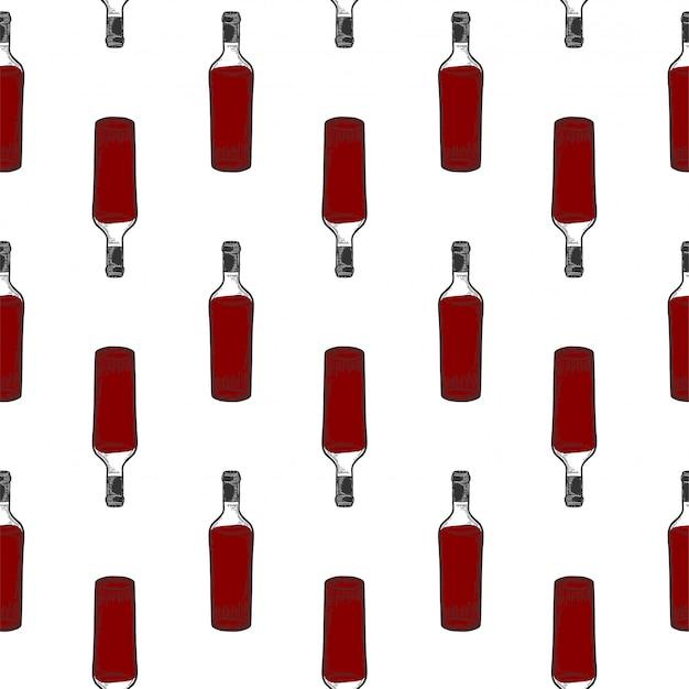 ワインの瓶、グラス。
