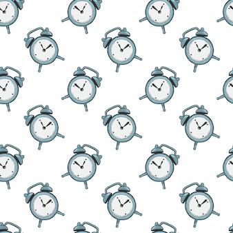 目覚まし時計、アナログ時計。