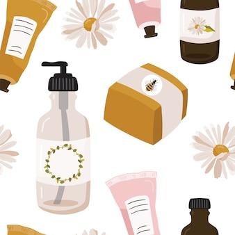 化粧品とのシームレスなパターン。