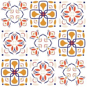 セラミックタイルのシームレスなパターン。