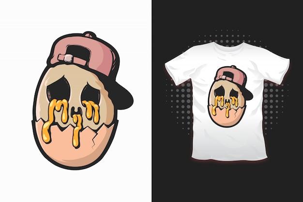 Яичный принт для дизайна футболки