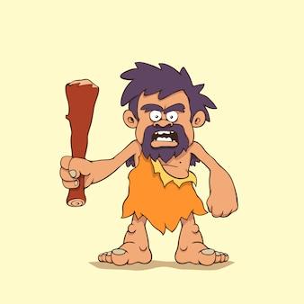 Мультфильм пещерный человек