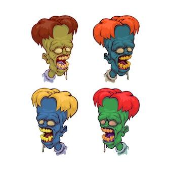 Голова мультяшного зомби