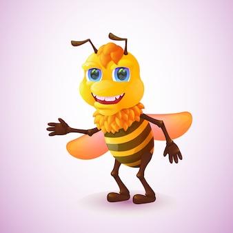 漫画のスタイルでかわいい蜂
