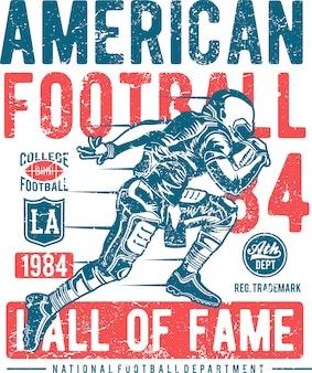 Бегущий американский футболист, американский футбол