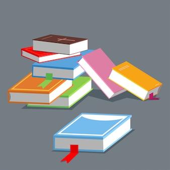 Всемирная книга день концепция иллюстрации, изолированных на фоне.