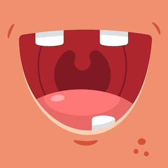 歯のない笑顔