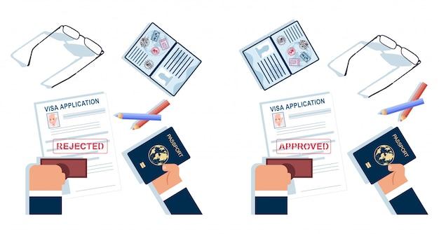 Заявление на выдачу визы .