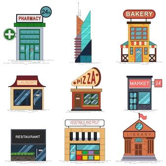都市の建物セット