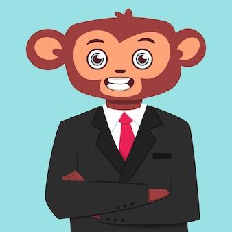 ビジネススーツの猿