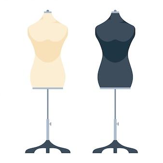 分離された服ファッションマネキン漫画セット