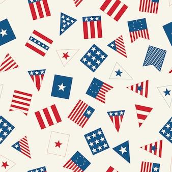 アメリカの国旗のパターン