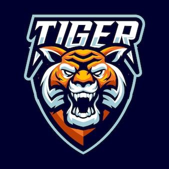Талисман с логотипом тигра и спортом