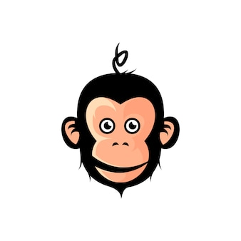 Милый дизайн иллюстрации обезьяны