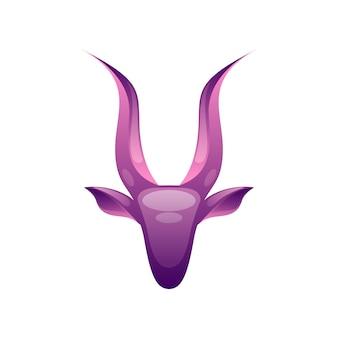 現代の鹿の頭