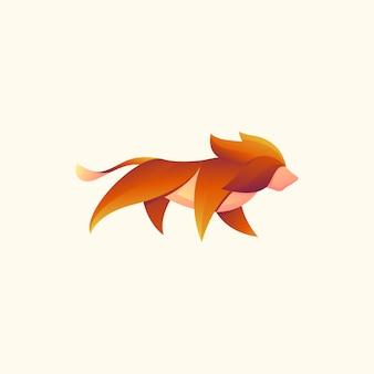モダンなライオンのイラストデザイン