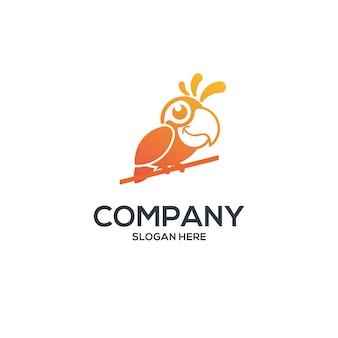 Логотип попугай