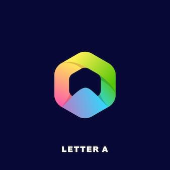 モダンなカラフルな文字ロゴプレミアム