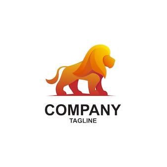 Современный дизайн иллюстрации льва