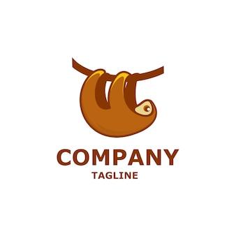 素晴らしいナマケモノのロゴデザイン