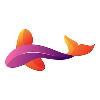 現代の魚のイラストデザイン