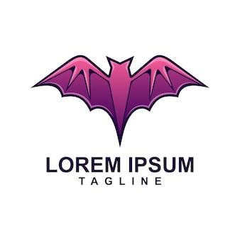 Фиолетовый логотип летучей мыши