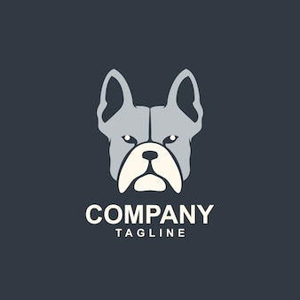 素晴らしい頭ブル犬のロゴのテンプレート