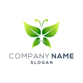 Логотип зеленая бабочка