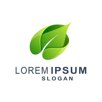 Зеленый лист современный логотип