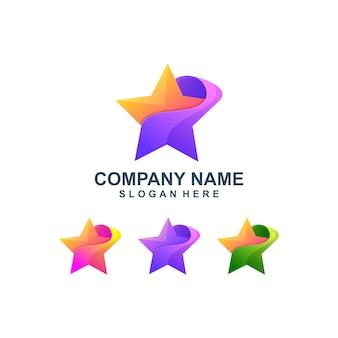 Красочный абстрактный логотип звезды