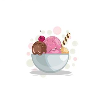 Мороженое мультфильм дизайн вектор
