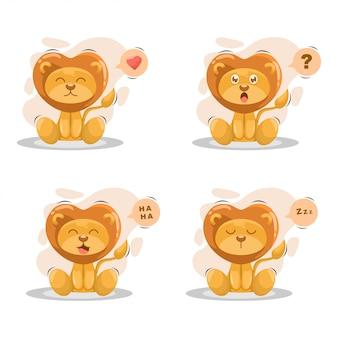 式漫画とかわいいライオン