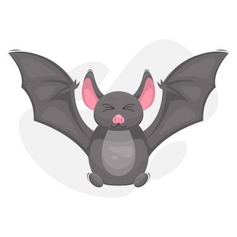 Милый мультфильм талисман летучей мыши