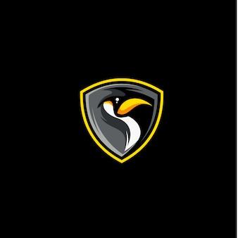 ペンギンのベクトルのロゴ
