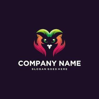 カラフルなフクロウのロゴデザイン
