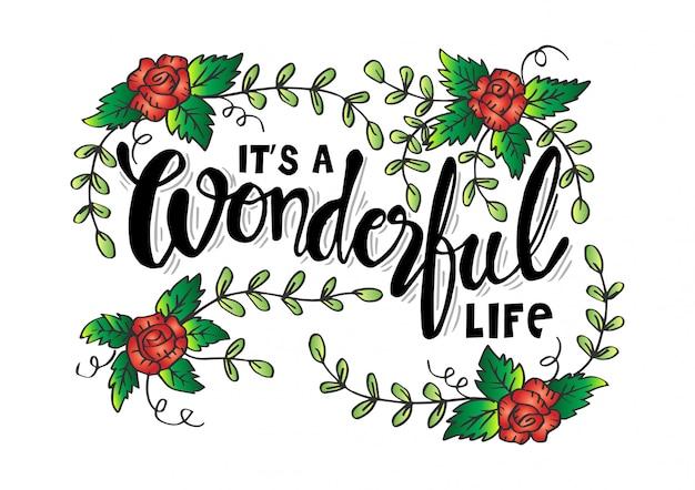 Это прекрасная жизнь. ручная надпись.